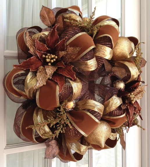 Deco Mesh Christmas Wreath Ideas