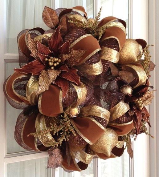 Deco Mesh Christmas Wreath Ideas