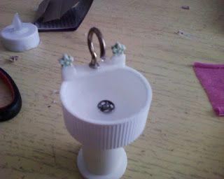 How to make miniature Dollhouse sink