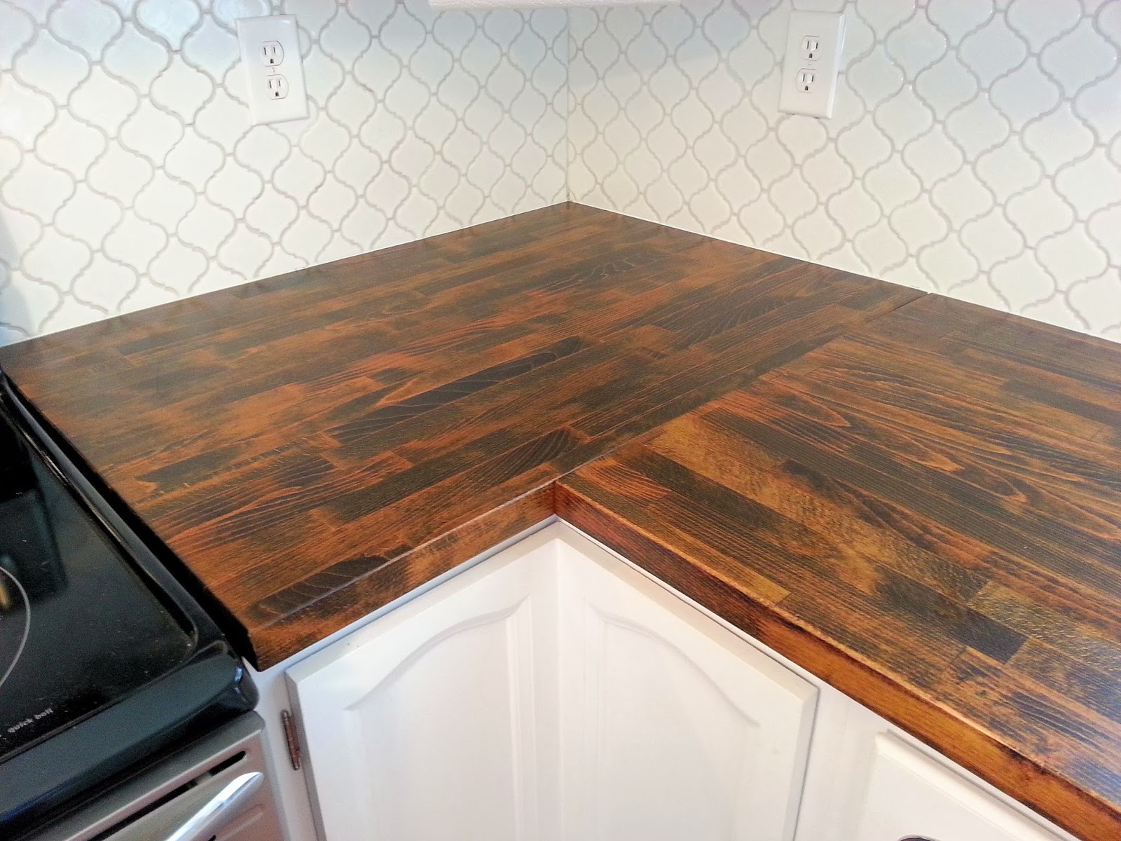 Black Kitchen Island Butcher Block Countertop