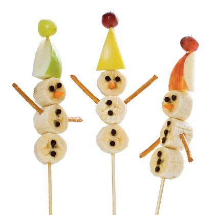 Super cute kid party idea – Snowman on a Stick