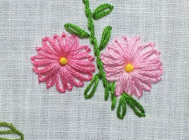 Lazy Daisy Stitch | 11 Different Types of Hand Embroidery Stitches