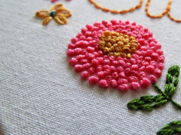 French Knot Stitch | 11 Different Types of Hand Embroidery Stitches