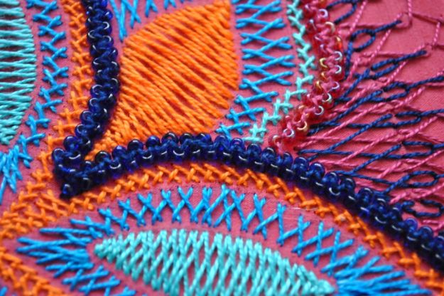 Herringbone Stitch | 11 Different Types of Hand Embroidery Stitches