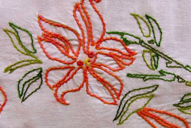 Stem Stitch | 11 Different Types of Hand Embroidery Stitches