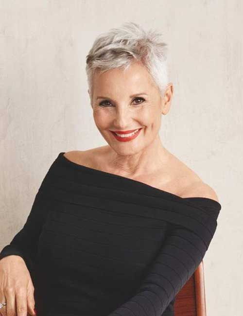Latest Short Haircuts for Classy Older Women -   Fine Hair Style Short Hair Cuts for Women Over 50