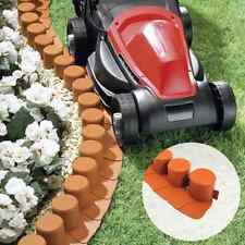... LOG STYLE MOW OVER GARDEN BORDER EDGING 7CM HIGH PLASTIC FLOWER BED -   Mow-over flower bed edging Ideas Collection