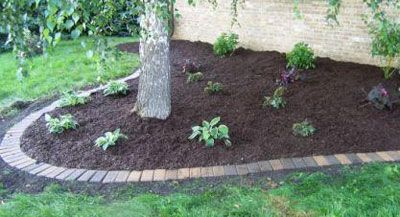 Mow-over Brick Flower Bed Edging -   Mow-over flower bed edging Ideas Collection
