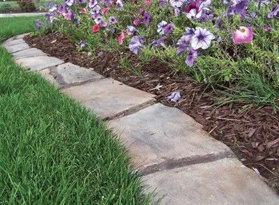 Mow-over flower bed edging Ideas Collection