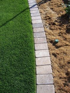 Plastic Lawn Edging, Lawn and Landscape Edging -   Mow-over flower bed edging Ideas Collection