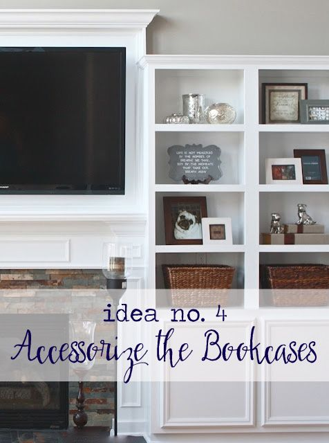 Image result for tv-over-mantel-accessorize-the-bookcases.jpg