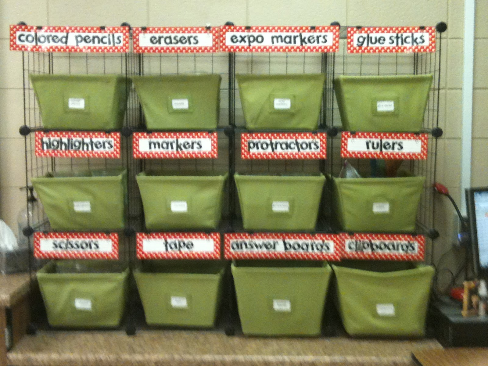 Mrs. Tilmon organization of classroom supplies -   Great ideas for organizing classroom supplies