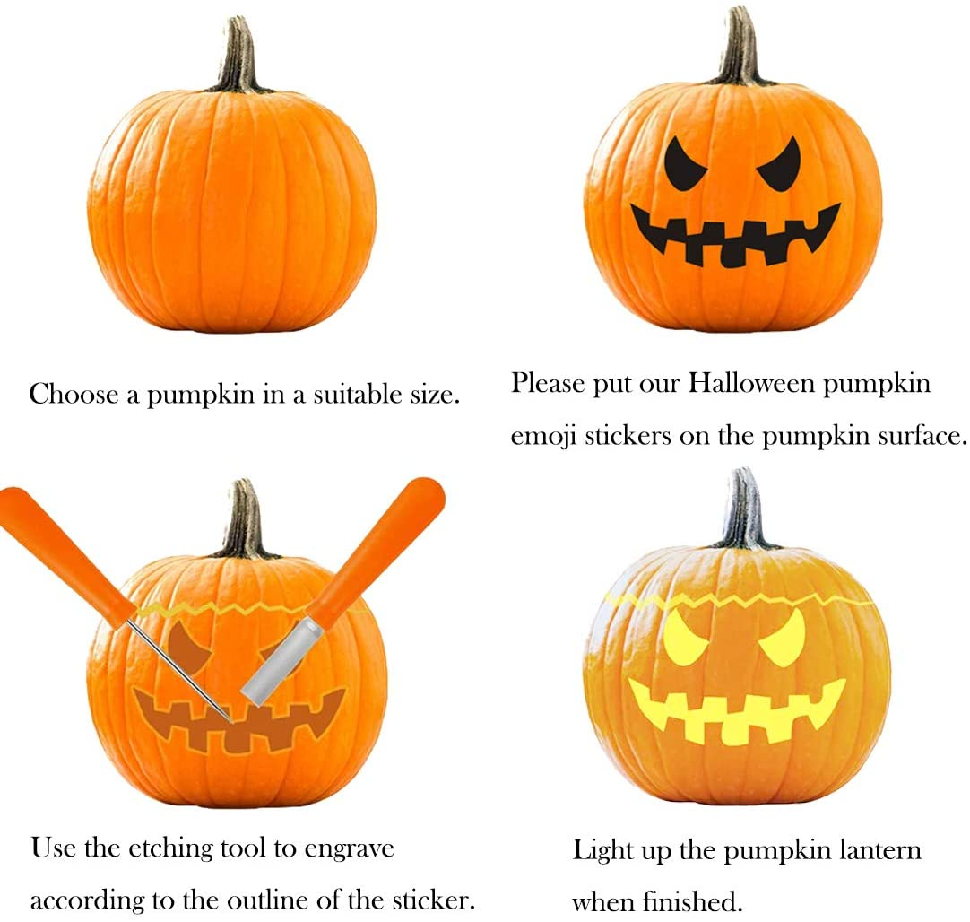 Decorate for Halloween with Jack-o-lantern faces!