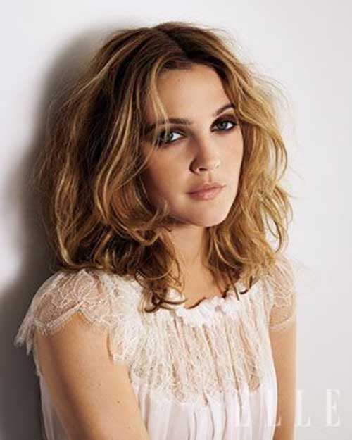 Drew Barrymore Hairstyles Blonde and Dark Brown Hair