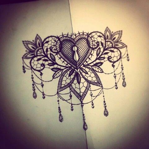 under boob sternum tattoo designs