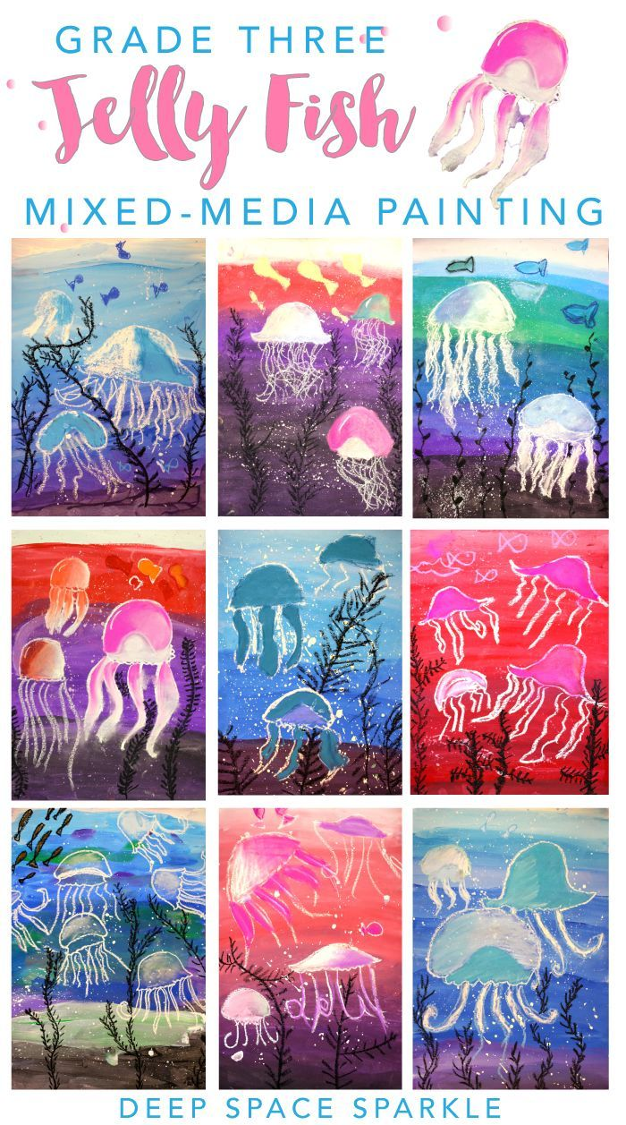 Jellyfish art project for boys and girls.