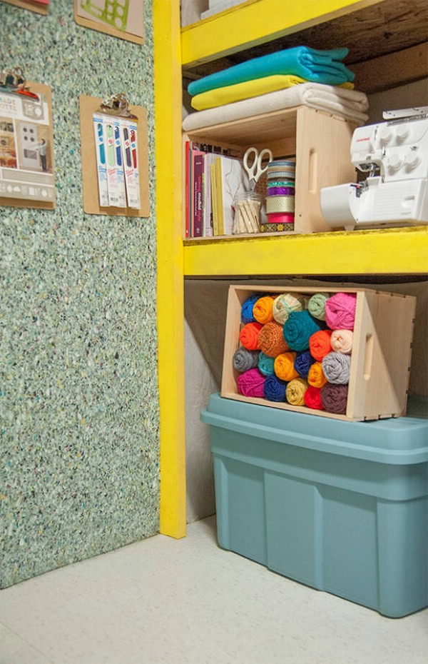 Floor Tile as a Wall Covering -   Brilliant Garage Organization ideas that will make life easier. Great ideas, tips, tutorials for insanely easy garage