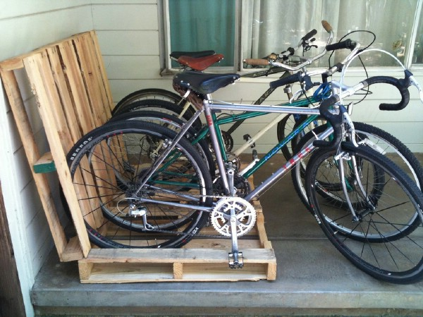 Make a Pallet Bike Rack -   Brilliant Garage Organization ideas that will make life easier. Great ideas, tips, tutorials for insanely easy garage