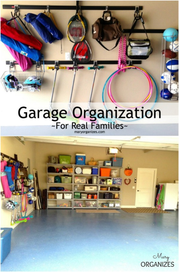 Garage Organization for Real Families -   Brilliant Garage Organization ideas that will make life easier. Great ideas, tips, tutorials for insanely easy garage