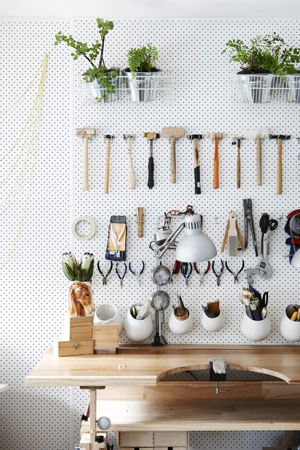 Create a Workbench Space -   Brilliant Garage Organization ideas that will make life easier. Great ideas, tips, tutorials for insanely easy garage