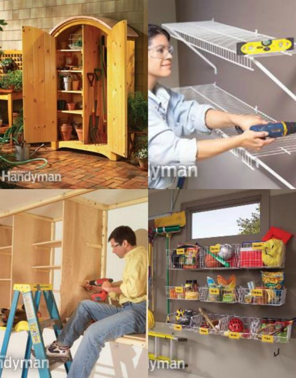 Brilliant Garage Organization ideas that will make life easier. Great ideas, tips, tutorials for insanely easy garage