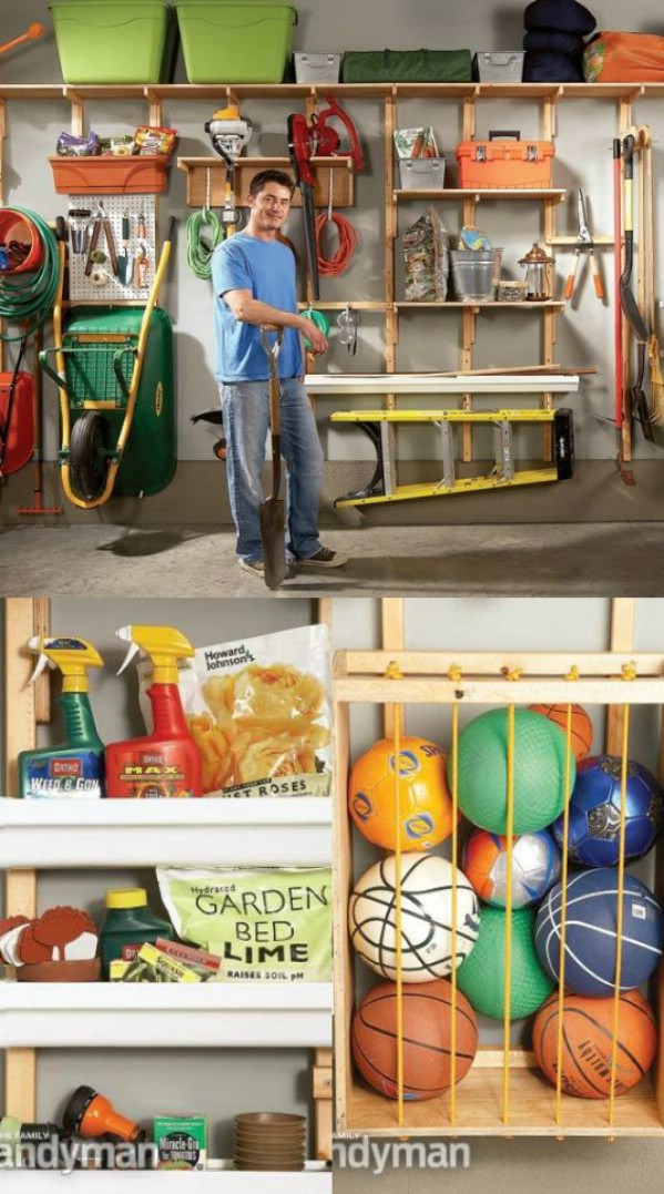 Utilize Wall Space for Storage -   Brilliant Garage Organization ideas that will make life easier. Great ideas, tips, tutorials for insanely easy garage