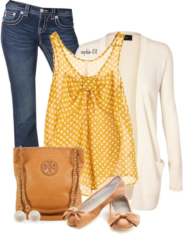 bow tank top casual outfit