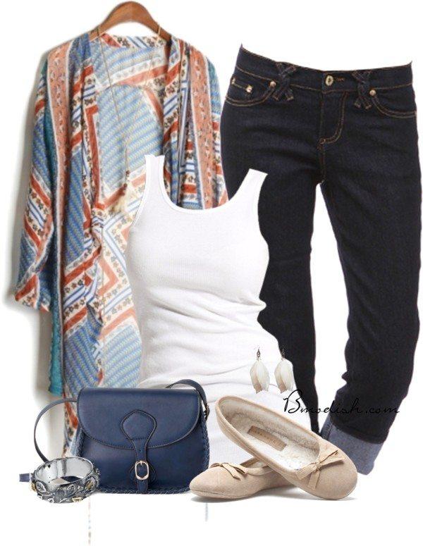 casual boho polyvore outfit idea