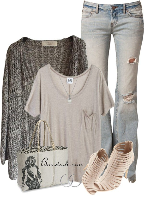 casual polyvore outfit