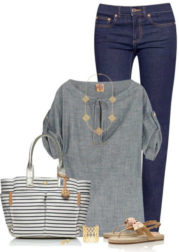 casual summer outfit with sandals