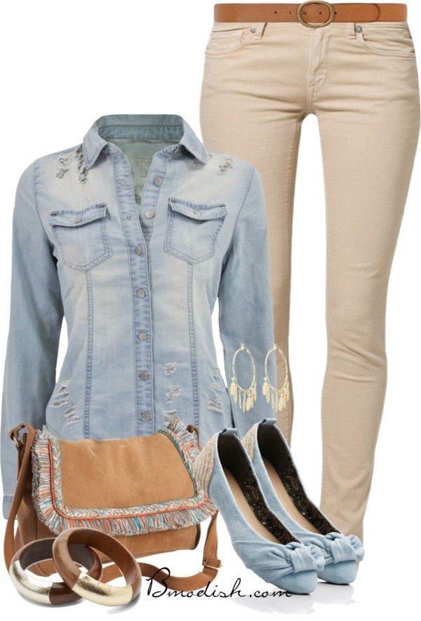 distructed shirt polyvore outfit
