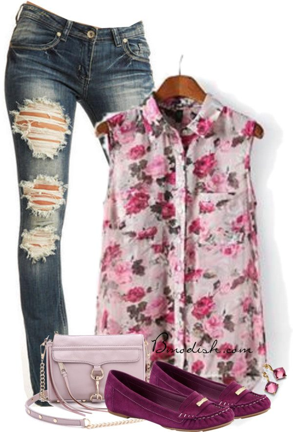 floral blouse summer outfit