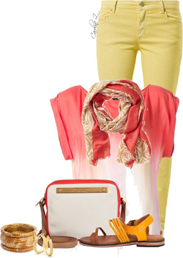 summer scarf outfit polyvore