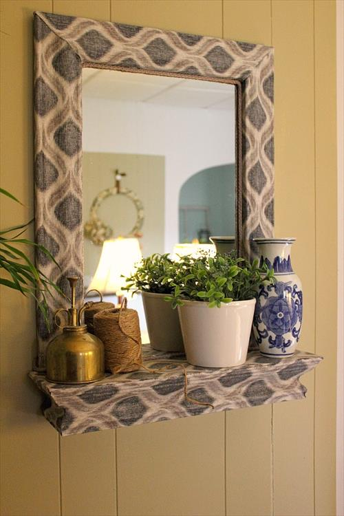 for your diy mirror frame source cool diy mirror picture frame ideas -   Great DIY Mirror frame ideas