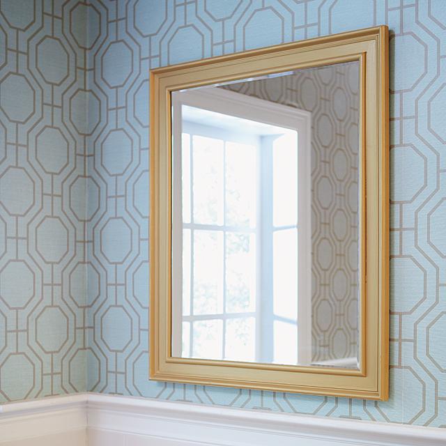 beautiful bathroom mirror with a DIY mirror frame -   Great DIY Mirror frame ideas