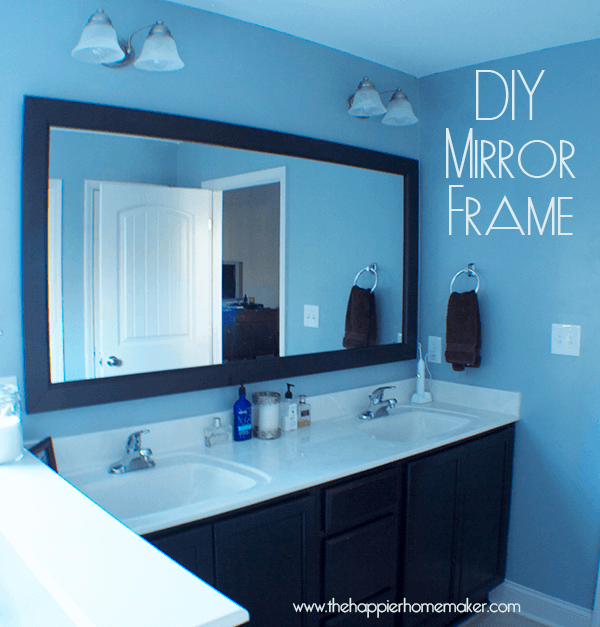 DIY Bathroom Mirror Frame with Molding | The Happier Homemaker -   Great DIY Mirror frame ideas