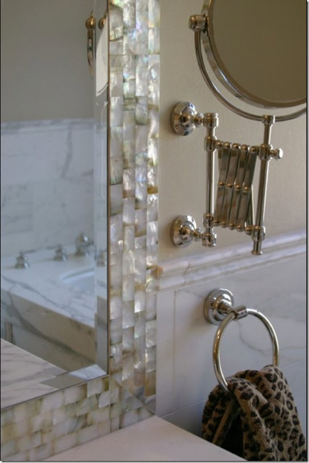 your mirror s dimensions use caulk to glue the tile onto your mirror ... -   Great DIY Mirror frame ideas