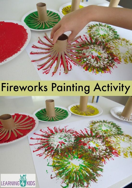 Painting Fireworks, for related pins and resources follow www.pinterest.com…