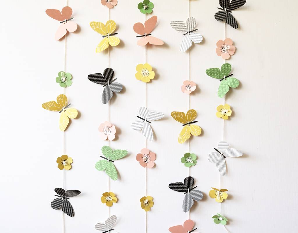 20 easy pop-out butterflies and flowers