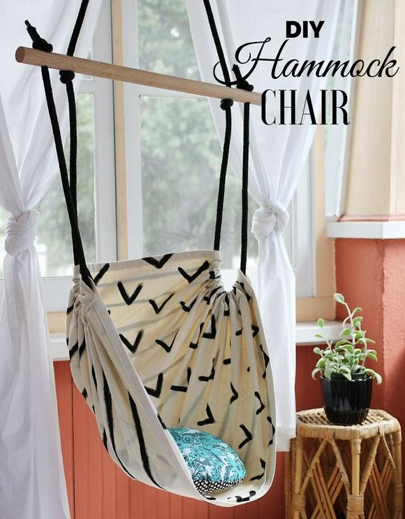 How to make an easy DIY Hammock Chair for bedroom