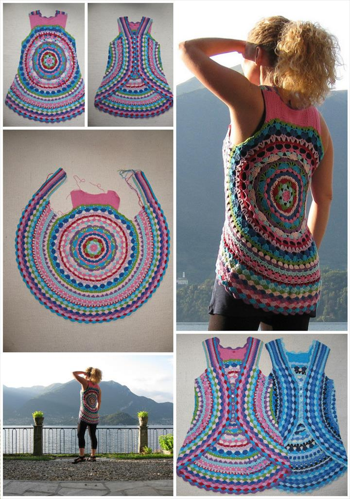 12 Free Crochet Patterns For Circular Vest Jacket How Do It Info