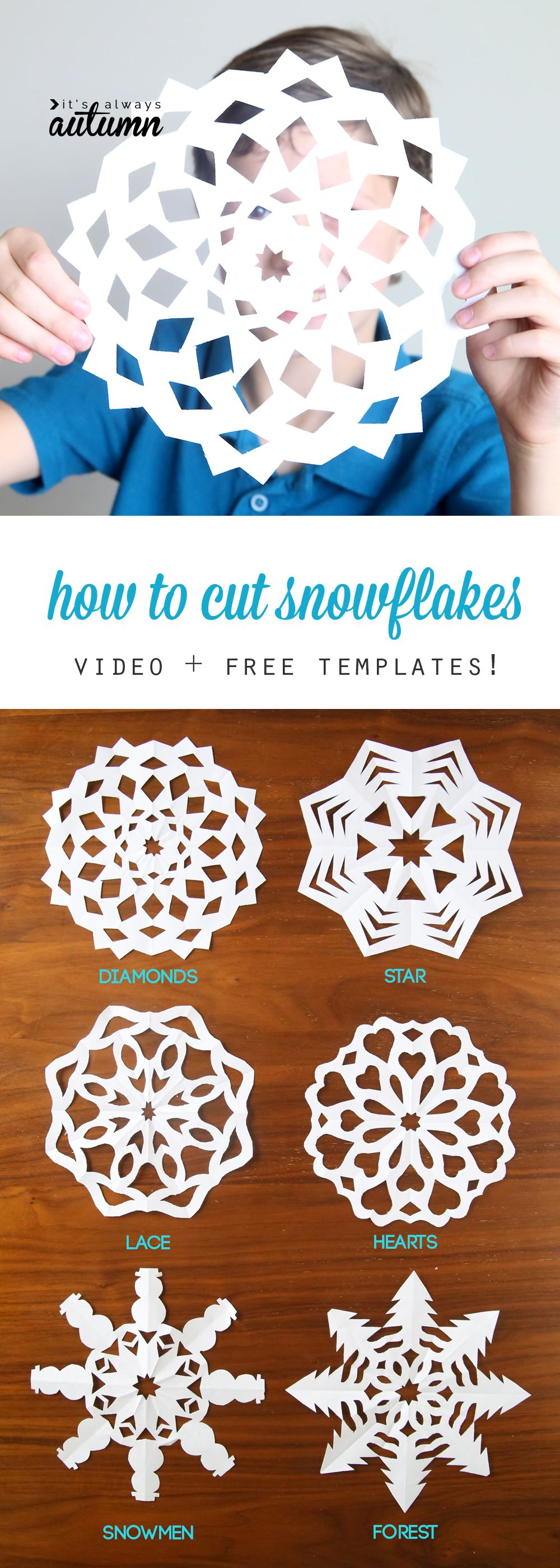 Cutting out snowflakes is one of our favorite holiday traditions!