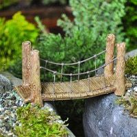 Miniature Wood Suspension Bridge -   Awesome miniature fairy garden ideas