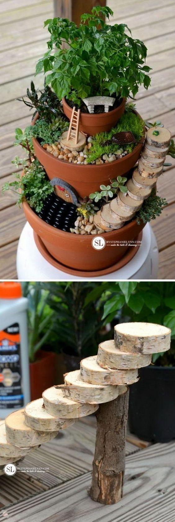 Over 15 DIY Outdoor Miniature Fairy Garden Ideas for Kids in the Garden -   Awesome miniature fairy garden ideas