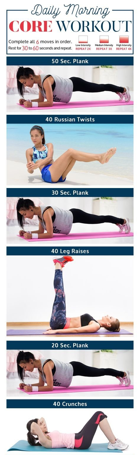 Daily Morning Core Workout Routine With Video Tutorials