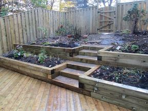 Backyard Wood Retaining Wall Ideas -   22 garden steps retaining wall ideas
