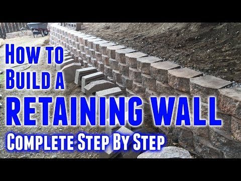 95 Stunning Retaining Wall Ideas -   22 garden steps retaining wall ideas