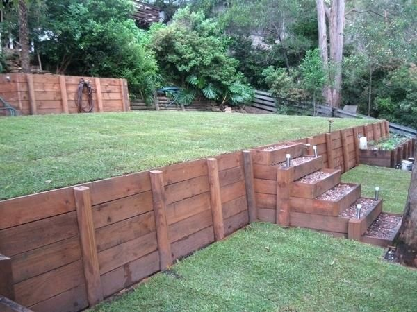 wooden garden retaining wall timber retaining wall designs or by joyful retaining walls build timber retaining wall on slope -   22 garden steps retaining wall ideas