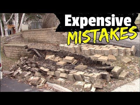 Retaining Walls - How to Avoid Costly Mistakes and DIY your landscaping Walls with Great results! - YouTube -   22 garden steps retaining wall ideas