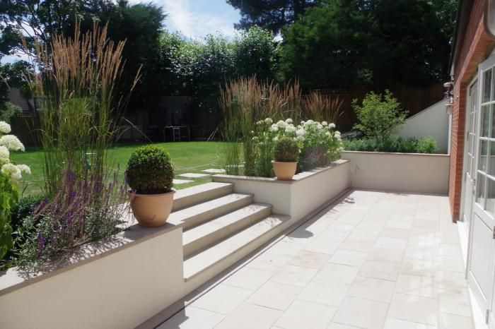 Buff Sawn Sandstone Paving is both hard-wearing and stylish. With a range of matching copings stones, step treads and edgings all available off the shelf, this product is extremely versatile and well suited to both traditional and contemporary schemes. -   22 garden steps retaining wall ideas